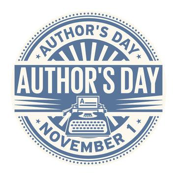 Authors Day, November 1