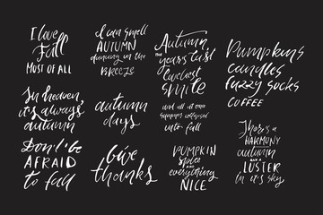 Autumn hand lettering for your design
