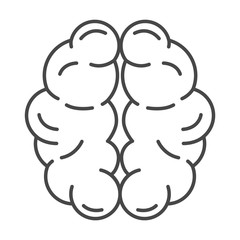 Mind brain icon. Outline mind brain vector icon for web design isolated on white background