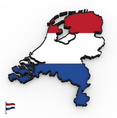 Netherlands high detailed 3D map