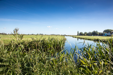 Polderlandschaft in Holland, Niederlande