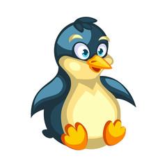 Cartoon vector penguin character