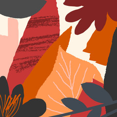 Abstract Autumn Card Design