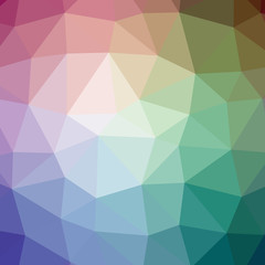 Illustration of beautiful blue low poly background.