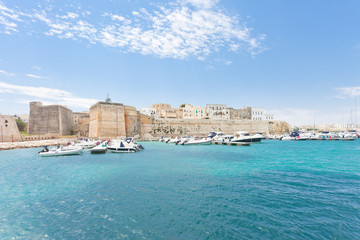 Otranto, Apulia - Motorboats at the harbor of Otranto in Italy