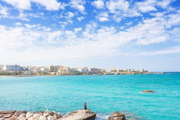 Otranto, Apulia -  Enjoying summer and the skyline of Otranto in Italy