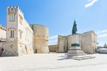 Otranto, Apulia - A historic statue at the city gate of Otranto