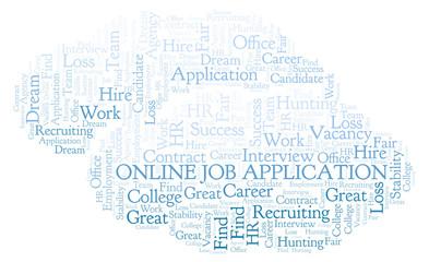 Online Job Application word cloud.