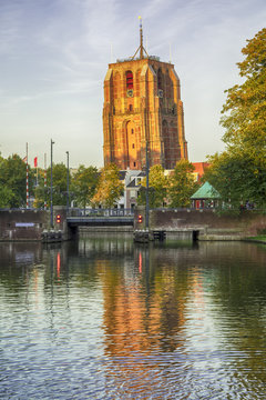 Oldehove, the leaning tower of Leeuwarden, Europan Capital of Culture 2018