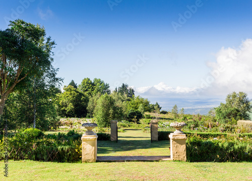 Formal Garden With Walls And Ornamental Plant Pots On The Edge Of Hogsback,  Eastern Cape