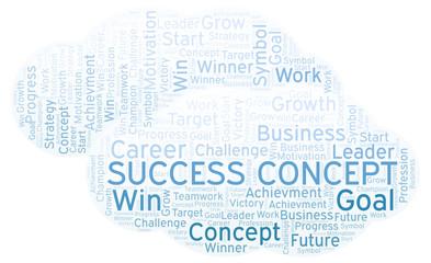 Success Concept word cloud.