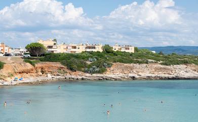 Clear Mediterranean sea near Punta Negra beach, Alghero, Sardinia, Italy