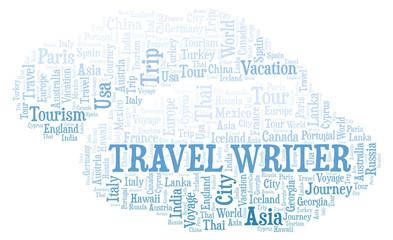Travel Writer word cloud.