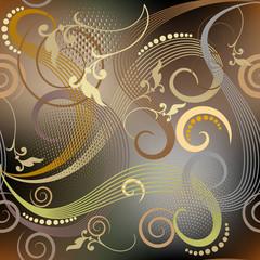 Vintage floral vector seamless pattern. Glowing elegance ornamen