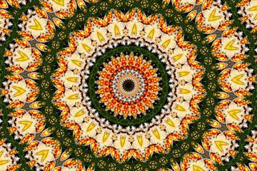 Psychedelic kaleidoscopic pattern