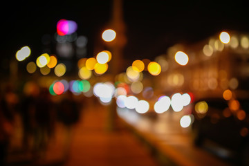 Bokeh city at night as an abstract background Fotomurales