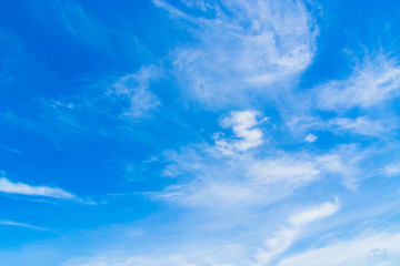 The sky and sky are blue or blue as the bright white background in summer.