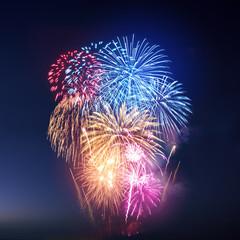 Festive Colourful Fireworks Display