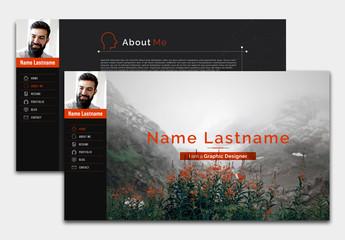 Interactive PDF Resume Layout