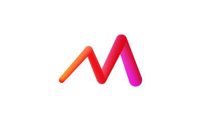 alphabet m logo design