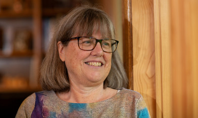 Donna Strickland speaks on the phone after winning the Nobel Prize for Physics