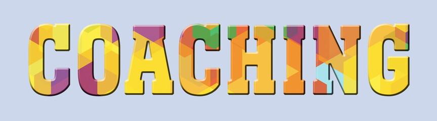 COACHING Multicolor Banner Logo
