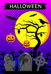 Halloween墓地 ベクター