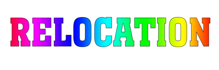 Relocation Rainbow multicolor logo