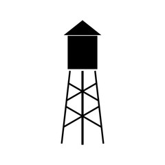 Water tower icon, logo on white background