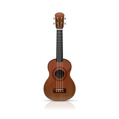 Ukulele guitar vector illustration isolated on white