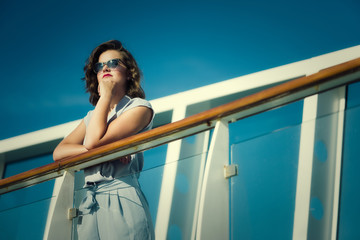 Young lady on a cruise