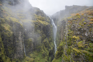 Hiking to Icelands second highest waterfall, Glumur.