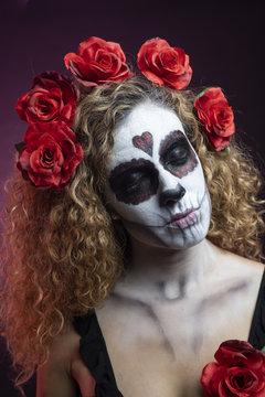 halloween make up sugar skull