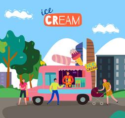 Food Cart Illustration