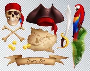 Pirate Realistic Transparent Set