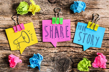 Post-it note : share your story