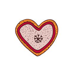 Heart Vector icon. Hand drawn illustration. Sticker print design.