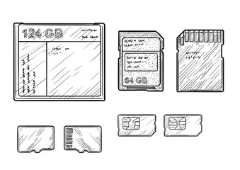 Memory cards illustrati