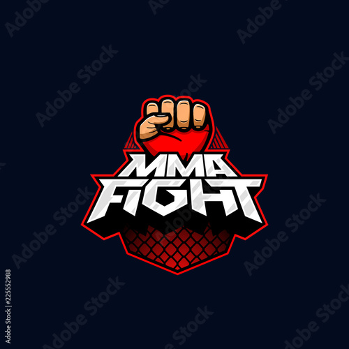 Mixed Martial Arts Vector Logotype Mix Fight Logo Template