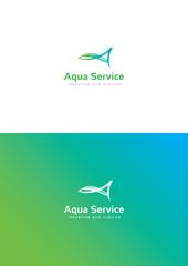Aqua service logo teamplate.