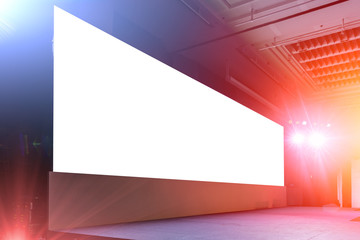 blank large led billboard screen panel background on event light and sound stage show Wall mural