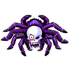 Spider Skull Halloween Creepy Monster