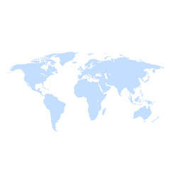 Earth world map on a white background vector illustration