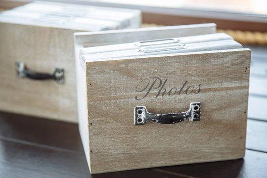 Stylish designer box for photo books.