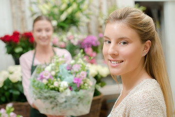 Buying some flowers