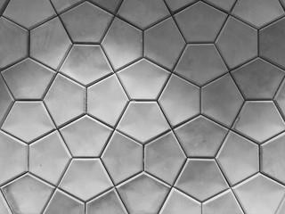 Geometrically shaped concrete wall tiles. Fotoväggar