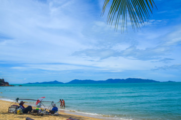 Topical white sandy beach in South East Asia