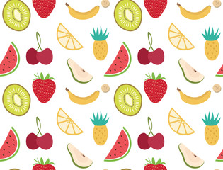 seamless fruit pattern for every background