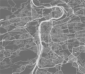 map of the city of Prague, Czech Republic
