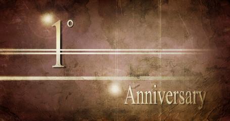 1° anniversario, progetto grafico.